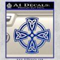 Irish Celtic Cross D7 Decal Sticker Blue Vinyl 120x120