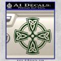 Irish Celtic Cross D7 Decal Sticker Dark Green Vinyl 120x120