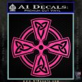 Irish Celtic Cross D7 Decal Sticker Hot Pink Vinyl 120x120