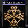 Irish Celtic Cross D7 Decal Sticker Metallic Gold Vinyl Vinyl 120x120