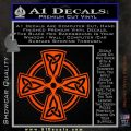 Irish Celtic Cross D7 Decal Sticker Orange Vinyl Emblem 120x120