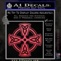 Irish Celtic Cross D7 Decal Sticker Pink Vinyl Emblem 120x120