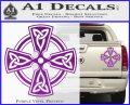 Irish Celtic Cross D7 Decal Sticker Purple Vinyl 120x97