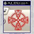 Irish Celtic Cross D7 Decal Sticker Red Vinyl 120x120