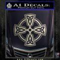 Irish Celtic Cross D7 Decal Sticker Silver Vinyl 120x120