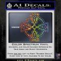 Irish Celtic Cross D7 Decal Sticker Sparkle Glitter Vinyl 120x120