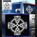 Irish Celtic Cross D7 Decal Sticker White Emblem 120x120