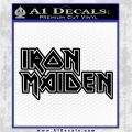 Iron Maiden Decal Sticker Stacked Black Logo Emblem 120x120