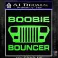 Jeep Boobie Bouncer Decal Sticker Lime Green Vinyl 120x120