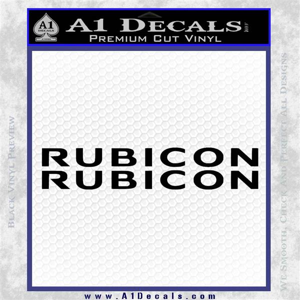 Jeep Rubicon 2 Pack Decal Sticker 187 A1 Decals