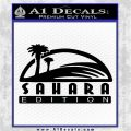 Jeep Wrangler Sahara Edition Fender Decal Sticker Black Logo Emblem 120x120