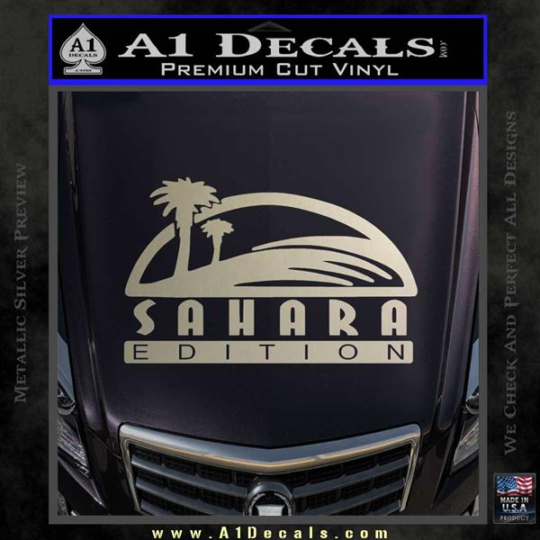 Jeep Wrangler Sahara Edition Fender Decal Sticker 187 A1 Decals