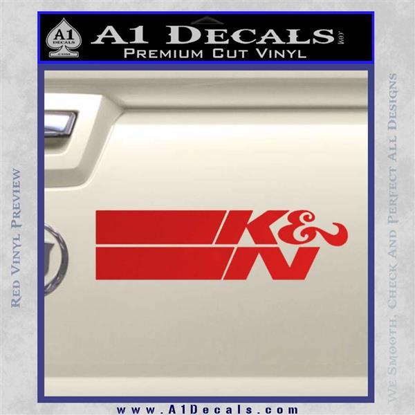 K N Logo D2 Decal Sticker Vzl 187 A1 Decals