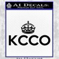 KCCO Keep Calm Chive On Decal Sticker DS Black Logo Emblem 120x120