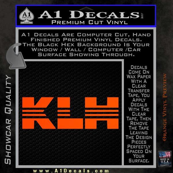 Klh Audio Logo Vinyl Decal Sticker 187 A1 Decals