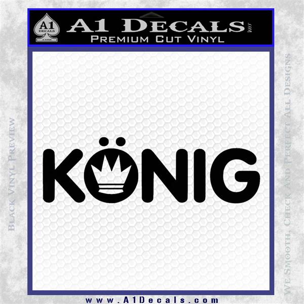 KONIG Wheels Vinyl Decal Sticker Black Logo Emblem