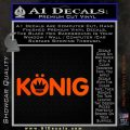 KONIG Wheels Vinyl Decal Sticker Orange Vinyl Emblem 120x120