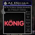 KONIG Wheels Vinyl Decal Sticker Pink Vinyl Emblem 120x120
