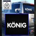 KONIG Wheels Vinyl Decal Sticker White Emblem 120x120