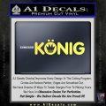 KONIG Wheels Vinyl Decal Sticker Yelllow Vinyl 120x120