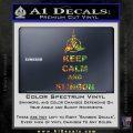 Keep Calm and Klingon Star Trek Decal Sticker Sparkle Glitter Vinyl 120x120