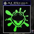 Kermit The Frog Decal Sticker BR Lime Green Vinyl 120x120