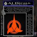 Klingon Supreme Commander Decal Sticker Star Trek Orange Vinyl Emblem 120x120