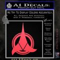 Klingon Supreme Commander Decal Sticker Star Trek Pink Vinyl Emblem 120x120