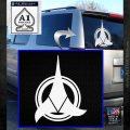 Klingon Supreme Commander Decal Sticker Star Trek White Emblem 120x120