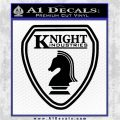 Knightrider Logo Shield Vehicle Decal Sticker Black Logo Emblem 120x120