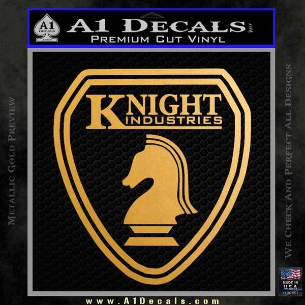 Knightrider Logo Shield Vehicle Decal Sticker Knight Rider