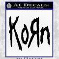 Korn Band Decal Sticker Black Logo Emblem 120x120