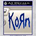 Korn Band Decal Sticker Blue Vinyl 120x120