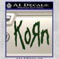 Korn Band Decal Sticker Dark Green Vinyl 120x120