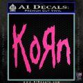 Korn Band Decal Sticker Hot Pink Vinyl 120x120