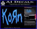 Korn Band Decal Sticker Light Blue Vinyl 120x97