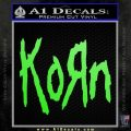 Korn Band Decal Sticker Lime Green Vinyl 120x120
