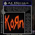 Korn Band Decal Sticker Orange Vinyl Emblem 120x120