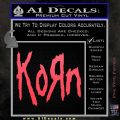 Korn Band Decal Sticker Pink Vinyl Emblem 120x120
