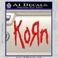 Korn Band Decal Sticker Red Vinyl 120x120