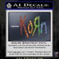 Korn Band Decal Sticker Sparkle Glitter Vinyl 120x120