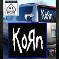 Korn Band Decal Sticker White Emblem 120x120