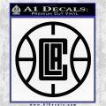 LA Clippers New Decal Sticker Black Logo Emblem 120x120