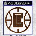 LA Clippers New Decal Sticker Brown Vinyl 120x120