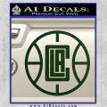 LA Clippers New Decal Sticker Dark Green Vinyl 120x120