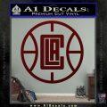 LA Clippers New Decal Sticker Dark Red Vinyl 120x120