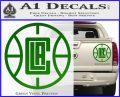 LA Clippers New Decal Sticker Green Vinyl 120x97