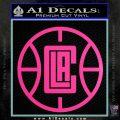 LA Clippers New Decal Sticker Hot Pink Vinyl 120x120