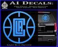 LA Clippers New Decal Sticker Light Blue Vinyl 120x97
