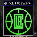 LA Clippers New Decal Sticker Lime Green Vinyl 120x120